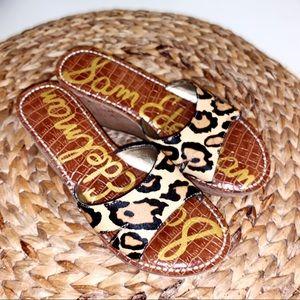 Sam Edelman cork wedge sandals like new 7.5